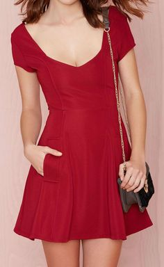 'Christy' Dress in Red