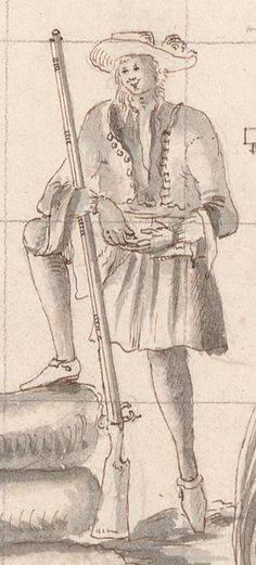 A BUCCANEER OR FLIBUSTIER AT ÎLE-À-VACHE, 1686, FROM A CHART BY P. CORNUAU