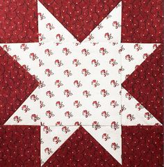 Civil War Quilts: Stars in a Time Warp Sprigged Muslins & Indiennes Hexagon Quilt, Quilt Block Patterns, Pattern Blocks, Square Quilt, Quilt Blocks, Star Blocks, Sewing Patterns, History Of Quilting, Cute Sewing Projects