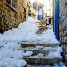 Today's Snow In Israel Jan 7 2015