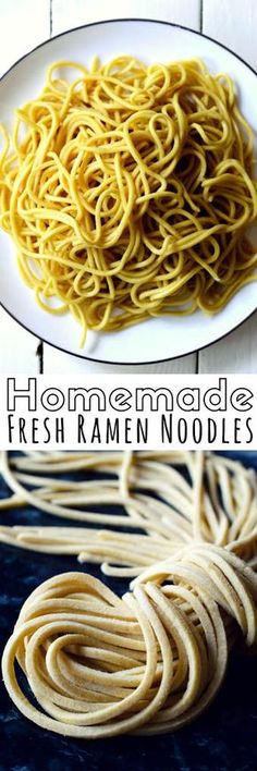 Homemade ramen noodles are actually really easy to make from scratch. Enjoy your fresh ramen in a bowl of ramen soup with your favorite fresh veggies.
