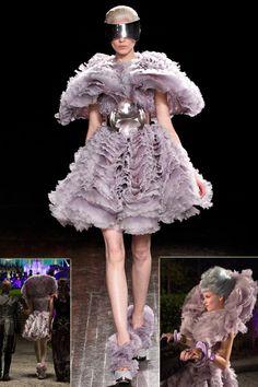 McQueen lavender dress #HungerGames Effie Trinket