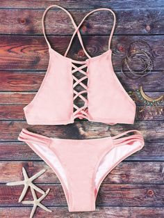 GET $50 NOW | Join Zaful: Get YOUR $50 NOW!http://m.zaful.com/pink-hollow-out-halter-bikini-set-p_165711.html?seid=2101701zf165711