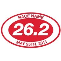 Show off your 26.2 marathon accomplishment with our personalized, high quality, extra thick, vinyl oval decals. These durable, high quality decals are hand cut from vinyl and will last for years.