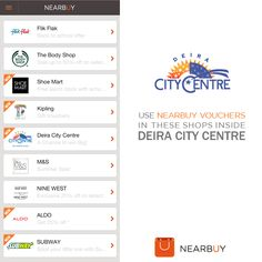 Hurry and check out the #offers this weekend from #nearbuyapp in #Deira_city_centre (#DCC) in #dubai (#dxb).  #flick_flack #shoe_mart (#shoemart) #the_body_shop (#thebodyshop) #kipling #marksandspencer #ninewest (#nine_west) #aldo #subway #Deiracitycentre