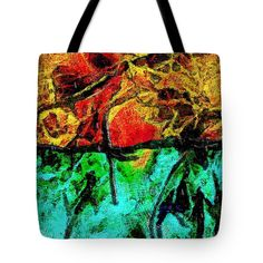 Abstract Tote Bag featuring the digital art Abstract Red And Blue by Riccardo Zullian