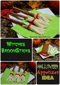 Witches Broomsticks Halloween Appetizer Idea