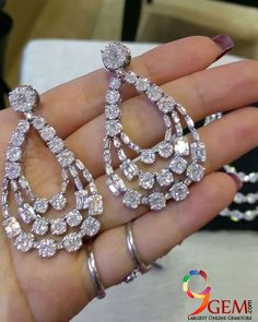 Add an exquisite measure of class to any style of dress with a breathtaking white zircon earring