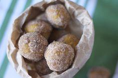 Pumpkin Spice Doughnut Holes (via @Saucy Spatula)