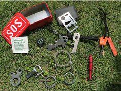 Kotak Peralatan Survival Keadaan Darurat SOS Alam Bebas Tokonik Bug Out Bag, Outdoor Survival, Led Flashlight, Tool Kit, Alcohol, Tools, Edc, Adventure, Bags