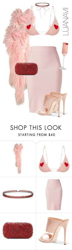 """""""Babe, I'm going out tonight"""" by luanavii ❤ liked on Polyvore featuring Fallon, Winser London, Alice + Olivia, Giuseppe Zanotti and Lilou"""