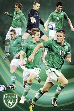 Beautiful Soccer Pitch | Republic of Ireland Football SUPER SIX 2012 Soccer Action Poster ...