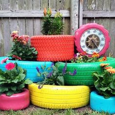 27 Things to do with Old Tires ...Of all the DIY Ideas I have seen, this is the best, and this will be a next hobby for me. Old tires! Very clever, Neecy.