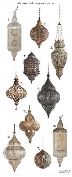 moroccan style hanging lanterns, bohemian style pendants, bohemian lighting, moroccan lighting, product roundup