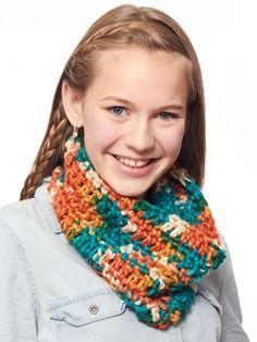 Basic Crochet Cowl   Yarn   Free Knitting Patterns   Crochet Patterns   Yarnspirations