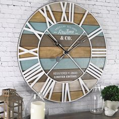 FirsTime & Co. 24 in. Maritime Distressed Teal Planks Wall Clock 00257 - The Home Depot : FirsTime & Co. Maritime Distressed Teal Planks Wall - The Home Depot Beach Cottage Style, Beach Cottage Decor, Coastal Style, Coastal Living, Coastal Decor, Coastal Furniture, Living Room Decor Beach, Beach House Diy Decor, Living Rooms
