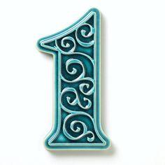 ceramic house number 1 turquoise by pracowniazona on Etsy Pottery Houses, Ceramic Houses, Slab Pottery, Pottery Vase, Ceramic Pottery, Ceramic Art, Ceramic Bowls, Ceramic Mugs, Handmade Tiles