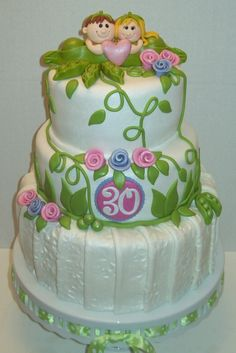 30th Anniversary Cake - Two Peas in a Pod