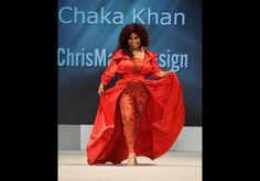 Chaka Khan in Chris March - The Heart Truth's Red Dress Collection 2012 Fashion Show