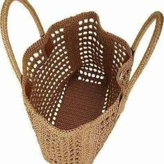 Dolce & Gabbana Raffia Tote - - replicabile con rafia o spago . Barneys New York Site ◆◇◆◇◆◇◆ Could make this out of recycled plastic bags ~! Free Crochet Bag, Mode Crochet, Crochet Market Bag, Crochet Tote, Crochet Handbags, Crotchet Bags, Knitted Bags, Jute Bags, Crochet Accessories