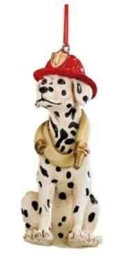 Dalmation Firehouse Dog Fireman Hat Christmas Ornament | eBay