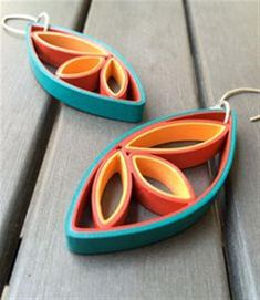 Customized quilling earrings