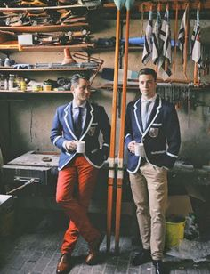 """This weekend I finally received my copy of the """"bible"""" of Rowing Blazers . The blazer is a staple . Preppy Mode, Preppy Style, Estilo Ivy, Style Blog, Henley Royal Regatta, Rowing Crew, Rowing Team, Rowing Blazers, Ivy League Style"""
