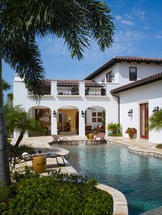 Spanish pool home