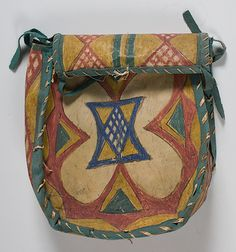 Sioux+Painted+Parfleche+Pouch+(4/21/2011+-+ONLINE++American+Indian+&+Western+Art+Timed+Auction)