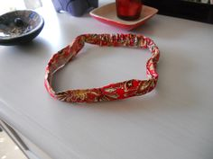 Red wrap headband