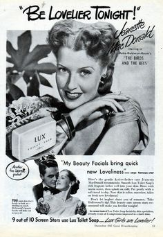 Jeanette McDonald for Lux Soap (1947).
