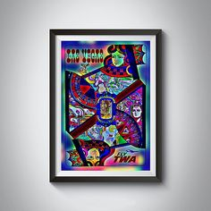Vintage Las Vegas TWA Art Print Poster by 2473VintageArt on Etsy