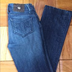 """Antik dark wash jeans Gently pre owned, authentic, dark wash Antik Denim jeans. No stains, no holes, zipper and buttons work. They are low waist. Very flattering jeans! I am 5'4"""" and I am wearing the jeans in the pictures in case that helps with the sizing. No trades Antik  Jeans Boot Cut"""