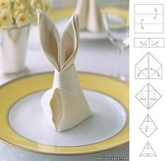 Bunny Napkin Fold - cute!