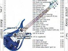 7° elenco di canzoni di Little Tony