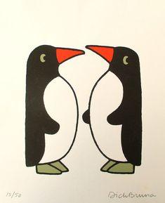 Retro Illustration, Graphic Design Illustration, Cute Dog Drawing, Penguin Art, Plakat Design, Embroidery Works, Illustrators, Character Design, Stencil