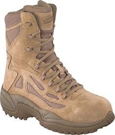 """Reebok RB8893 Men's 8"""" Desert Tan Composite Toe Stealth Military Boot #NLV #NEWLINEVENTURE #NLVtactical #Tactical #Boots #Footwear #Gear #Shoes #America #USA #UnitedStates #Military #Reebok #Converse   www.newlineventure.com  www.nlv.la"""