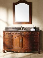 """60"""" Parlero Single Bath Vanity-The cabinet features two doors and eight drawers, which give you tons of room for storage and organization. Optional matching mirror is available to complete the look of your bathroom. Faucets sold separately."""