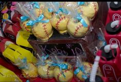 Softball candied apples...the finished products!