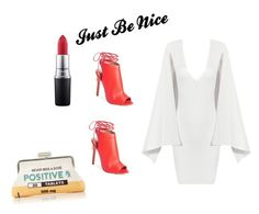 """""""Just Beautiful Nice"""" by fredericaehimen ❤ liked on Polyvore featuring MAC Cosmetics, Posh Girl, Topshop and Sarah's Bag"""