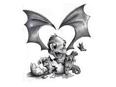 Free Designs  Little Baby Dragon Tattoo Wallpaper