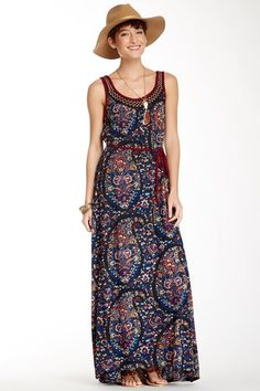 Embroidered Tank Maxi Dress by Lucky Brand on @HauteLook