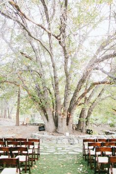 A rustic ceremony: http://www.stylemepretty.com/little-black-book-blog/2014/12/24/rustic-romantic-wrightwood-ranch-wedding/ | Photography: Wai Reyes - http://waireyes.com/