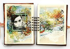 Freestyle journal sample - with Sizzix by finnabair, via Flickr