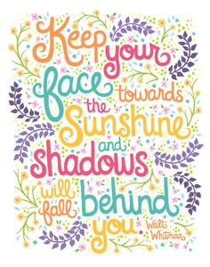 Walt Whitman Quote Illustration. Art Print