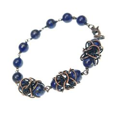 Lapis lazuli bracelet chainmail jewelry mothers day gift by Verha, $59.00 #spinoff #Rt