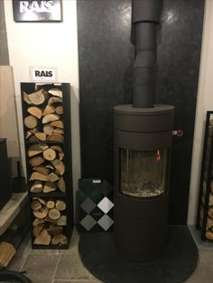 RAIS firewood rack shown here with the RAIS Viva 120 L woodburning stove Firewood Rack, Log Burner, Woodburning, Stove, Accessories, Wood Burning Heaters, Wood Burning, Range, Wood Furnace