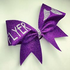 Glitter Flyer cheer bow. by BragAboutItCheerBows on Etsy