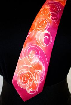 Hand-painted pure hand-silk ties unique and original product