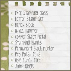 Great information on all the jewelry making tools and hand stamped jewelry supplies you need to get started stamping on metal. Hand Stamped Metal, Hand Stamped Jewelry, Stamping Tools, Metal Stamping, Jewelry Stamping, Sea Glass Jewelry, Metal Jewelry, Jewelry Making Tools, Jewelry Supplies